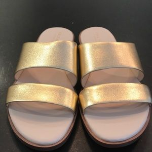 Cole Haan Gold Sandals